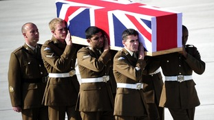 Repatriation of Lance Corporal Michael Foley of the Adjutant General's Corps at RAF Brize Norton in Oxfordshire.
