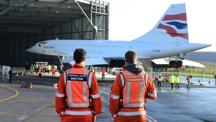 Final Concorde to ever fly moves into new hangar