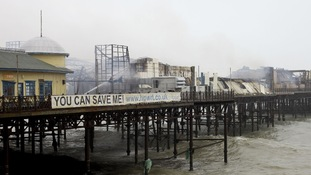 Lottery cash boost for fire-hit pier