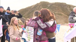 Natalia Spencer completes walk in memory of her daughter around entire coastline of Britain