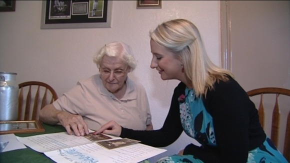 Elsie Prest tells Tyne Tees about her Map of Life