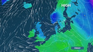 Scandinavian High imports colder air in from the east for the second half of this week