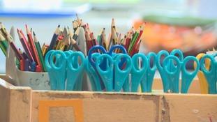 Pencils and scissors
