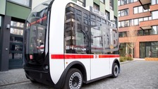 A driverless bus in Germany.