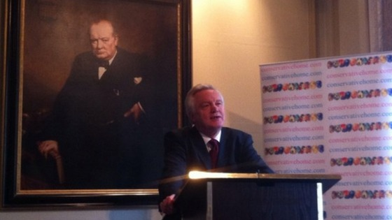 David Davis speaking to Conservative Home this lunchtime.