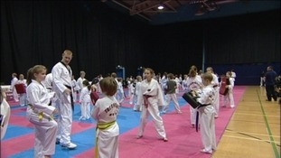 Students of the Taekwondo Club in Spennymoor got the chance to train with the Olympics star