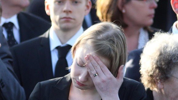 Mourners pay their respect as the bodies of Sergeant Luke Taylor, Lance Corporal Michael Foley and Captain Rupert Bowers are repatriated.