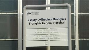 Bronglais Hospital sign