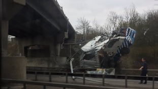 The lorry beside the A12