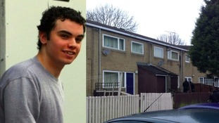Police are carrying out a search of a garden in the west end of Newcastle, at a property where Liam Lyburd used to live.