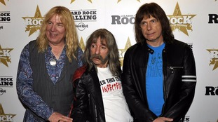 Members of the spoof rock band Spinal Tap.