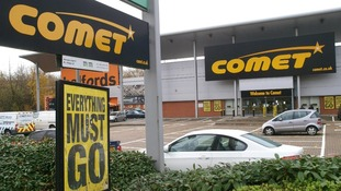 A general view of a Comet store in Hendon, north London