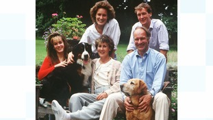 Pictured with her parents and siblings at home in 1988