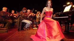 At her debut performance as a solo pianist with the National Symphony Orchestra in 2000