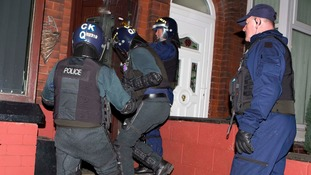 Twelve men arrested in organised crime raids