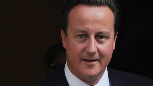 Close-up image of David Cameron