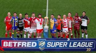 Super League captains pose ahead of the 2017 season.