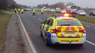 Driver arrested after 59 year old pedestrian hit by car on A27