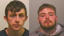 Daniel Ree seen here on the left was jailed for 52 months for manslaughter and Jordan Craggs was sentenced to 21 months for affray