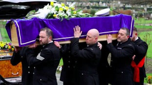 Funeral of policeman whose life-support was switched off