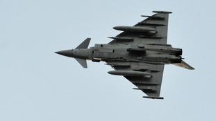 RAF Typhoon jet aircraft