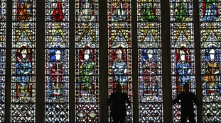 York Minster police cathedral stained glass window