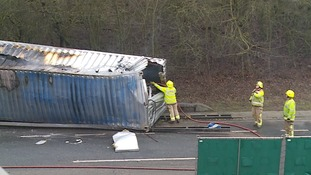 Crash lorry carrying 'hazardous chemicals' keeps A12 shut