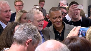 Labour leader Jeremy Corbyn with the Norwich South Mp Clive Lewis.