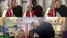 spirits have been lifted after a visit from his football hero, Jermaine Defoe.