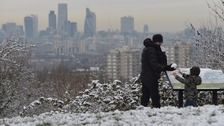 View over the capital from One Tree Hill in south London
