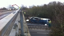 One lane remains closed southbound on the A12 at Witham in Essex