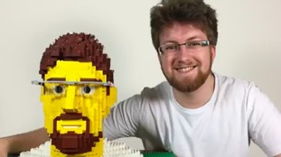Watch: Design student builds own head out of Lego
