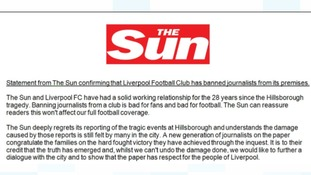 The Sun statement