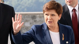 Beata Szydło reportedly suffered bruises in the collision.