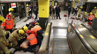 'Arson attack' on Hong Kong subway injures 18