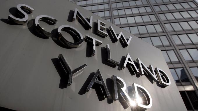 A file photo outside New Scotland Yard, London.