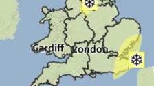 Snow warning for the south-east
