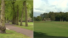 Christ's Pieces in Cambridge (left) and Eaton Park in Norwich (right) are two of the region's most historic parks.