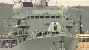 HMS Argyll and crew