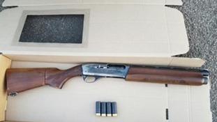Shotgun used in armed robbery