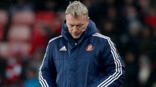 Sunderland manager David Moyes reacts on the touchline during the Premier League match at the Stadium of Light, Sunderland