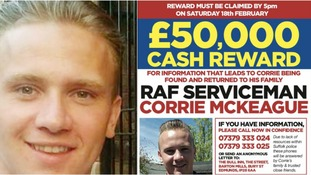 Silence could lead to £50,000 Corrie McKeague reward being withdrawn