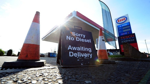 Some petrol stations were forced to close amid fuel shortages.