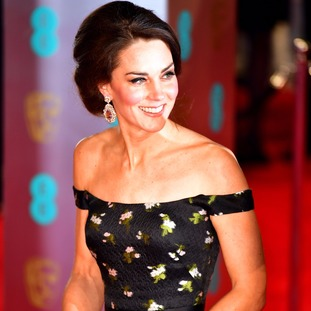 The Duchess of Cambridge arrives at the Baftas.