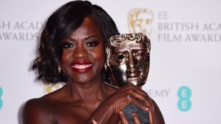 Viola Davis after picking up the Bafta.