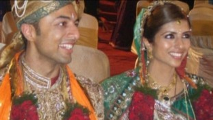 Shrien & Anni Dewani during wedding ceremony