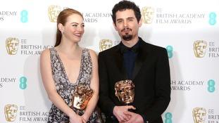 Emma Stone and La La Land director Damien Chazelle.