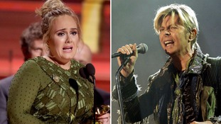 Adele and David Bowie sweep up gongs at Grammy awards