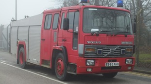 One of the donated fire engines