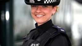 PC Cat McFadyen, from Norfolk Constabulary wearing the new uniform in 2008